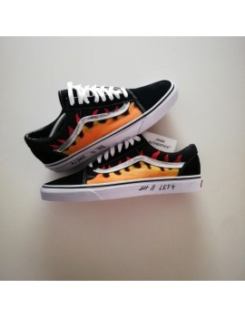 Cartoon Flames - Vans